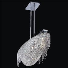 arc glow crystal chandelier flush mount 573qm5lsp 3c angl