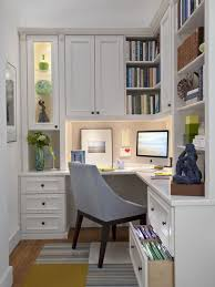 at home office ideas. Example Of A Mid-sized Classic Built-in Desk Medium Tone Wood Floor Study At Home Office Ideas L