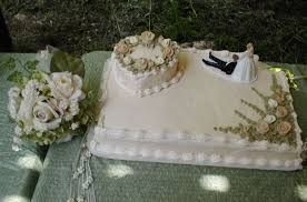 Wedding Cake Sheet Cake With Heart And Fondant Roses Cakecentralcom