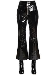 ellery stretch faux patent leather pants in black