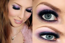 prom 2016 makeup tutorial purple smokey eyes you pink and purple prom or