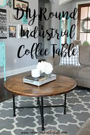 Diy Industrial Coffee Table Diy Round Industrial Coffee Table A Diamond In The Stuff