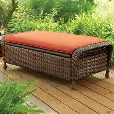 outdoor patio garden storage ottoman furniture set rust resistant wicker outdoor furniture storage box wicker garden