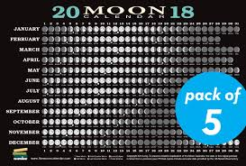 Moon Chart October 2018 2018 Moon Calendar Card 5 Pack Lunar Phases Eclipses