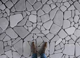 stepping stones stone paving effect flooring grey feet