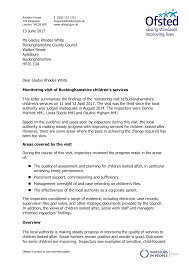 13 June 2017 Ms Gladys Rhodes White Buckinghamshire County Council Walton  Street Aylesbury Buckinghamshire HP20 1UA Dear Glady