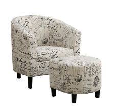 accent chair with ottoman. Coaster Home Furnishings Accent Chair Ottoman Vintage French Print Match Fabric With