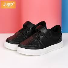 jugo brand kids shoes for girls casual boys leather sneakers breathable white student shoes comfortable children sports shoes