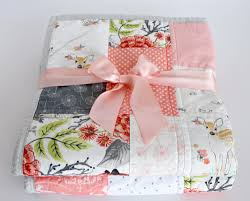 Patchwork Baby Quilt, Baby Quilts Handmade,Pink & Grey Nursery ... & Patchwork Baby Quilt, Baby Quilts Handmade,Pink & Grey Nursery,Baby Girl  Quilt,Coral Nursery, Woodland Nursery Bedding, Baby Quilts Adamdwight.com