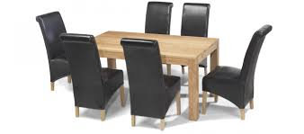 table 6 chairs sale. cube oak 160 cm dining table and 6 chairs sale t