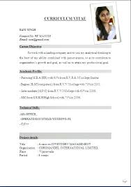 Indian Resume Format Pdf Lezincdc Com
