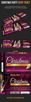 Party Tickets Templates Christmas Party Event Ticket Event Ticket Ticket Template And 11