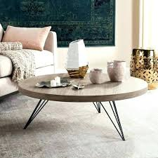 coffee table safavieh modern glam malone white chrome