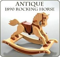 vintage wooden rocking horse antique rocking horse wood toy plan set vintage wooden rocking horse ornament
