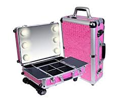 amazon shany cosmetics mini studio togo makeup case pink makeup train cases beauty