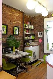 Bricks furniture Sofa Small Apartment Design With Exposed Bricks Walls Kitchen Furniture Some Cute Ideas For Other Rooms Too Shacbiga Small Condo In New York Charms With Its Exposed Brick Walls Diy