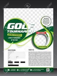 Golf Tournament Flyer Template Golf Tournament Flyer Template Vector Illustration