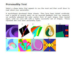 Everyone has a color that suits them best. Personality Test
