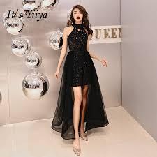 <b>It's YiiYa Evening</b> Dress <b>Bling</b> Black Romantic Tiered Hem Formal ...