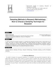 Sampling Design Example In Thesis Pdf Sampling Methods In Research Methodology How To Choose