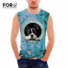 2019 <b>FORUDESIGNS 2017</b> Fitness Men Tank Top <b>Clothing</b> 3D Dog ...