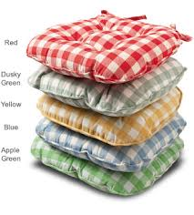 kitchen chair cusions. Gingham Seat Pad Colour Range Kitchen Chair Cusions