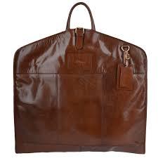 leather suit carrier harper chestnut