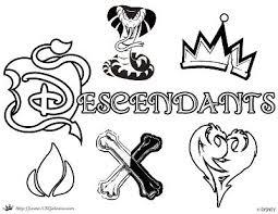 Splendid Ideas Descendants Coloring Pages Free Disney Channel Movie