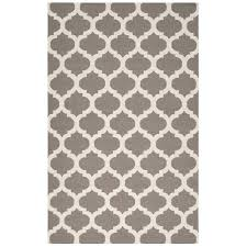 geometric rug pattern. Brown And White Geometric Rug Pattern