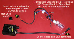 performance h hid installation mitsubishi gt dodge the hid kits come 2 ballasts they re the same no left right 2 h4 hid bulbs wiring and 2 little sleeves a couple little plastic terminals