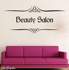 personalised beauty salon wall art