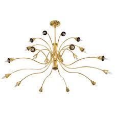 Brass Two Tier Curvilinear Chandelier Classical Modern