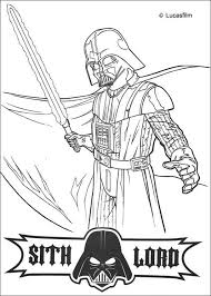 Small Picture Darth vader with a laser sword coloring pages Hellokidscom