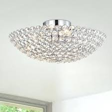 bowl ceiling light 4 crystal semi flush lamp free hunter fan kit