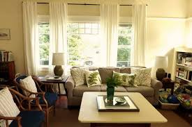 living room curtains for double windows living room curtain ideas