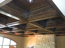Decor Tips Charming Wood Coffered Ceilings With Recessed