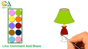 How To Draw A Table Lamp Table Lamp Coloring For Kids