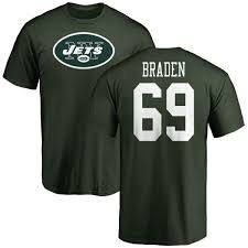 T-shirt Number Tee Name Braden New - Logo York Men's Jets Green Ben amp; Teams