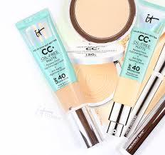 it cosmetics qvc tsv matte cc cream foundation review oily skin