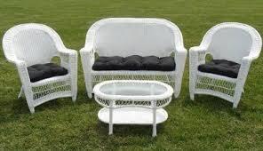 Patio White Resin Wicker Patio Furniture