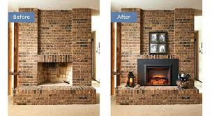 electric insert before after cost of converting gas fireplace back to wood burning conversion logs can