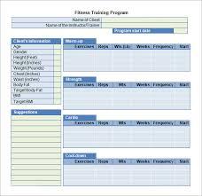 Free Training Plan Template Under Fontanacountryinn Com