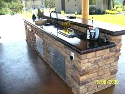 captivating design for outdoor kitchen decoration amusing with grey stone granite