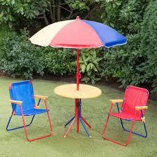Amazoncom Outdoor Table W Benches U0026 Umbrella Toys U0026 GamesChildrens Outdoor Furniture With Umbrella