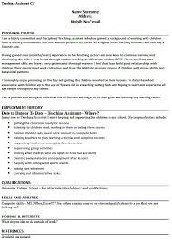 Gallery Of Teaching Profile Sample