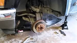 2005 chevy colorado brake rotor and hub replacement - YouTube