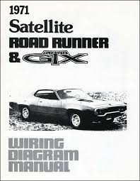 mopar parts literature multimedia classic industries 1971 plymouth satellite road runner gtx wiring diagram manual