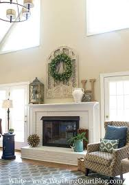 fireplace mantel extension southwest tile porch idea in with a fire