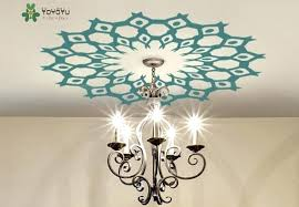 chandelier wall decal ceiling medallion decal copper tribal modern ethnic decor removable vil lamp chandelier wall sticker in wall stickers from home garden