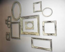 12 Mixed FRAMES - Large Complete Shabby Chic Gallery Wall Ready to Hang in  Rustic Ivory Empty Frame Collection
